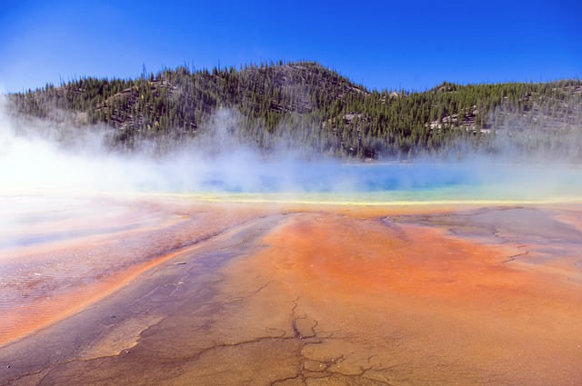 Yellowstone spring photo